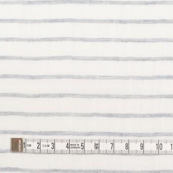 コットン&ラミー×ボーダー(オフホワイト&ネイビー)×ガーゼワッシャー_全3色 サムネイル4