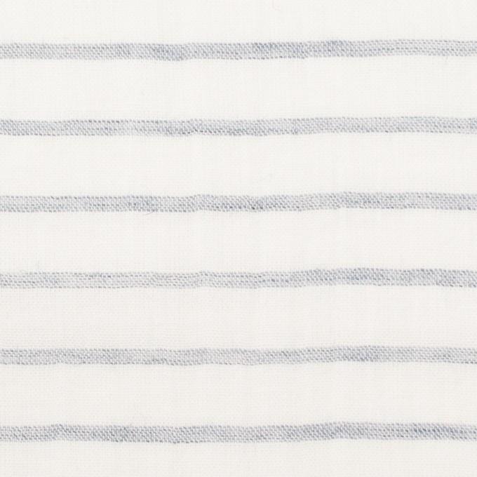 コットン&ラミー×ボーダー(オフホワイト&ネイビー)×ガーゼワッシャー_全3色 イメージ1