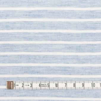 コットン&ラミー×ボーダー(ブルー)×ガーゼワッシャー_全3色 サムネイル4