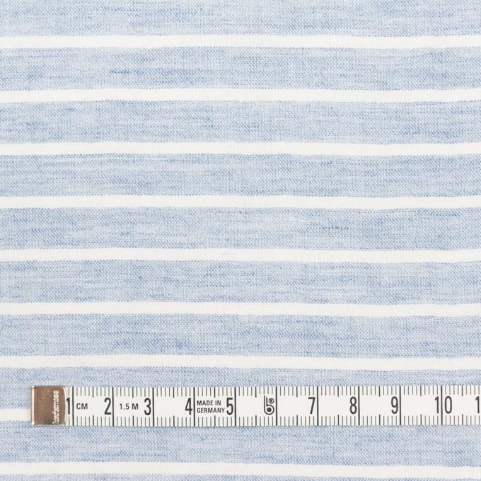 コットン&ラミー×ボーダー(ブルー)×ガーゼワッシャー_全3色 イメージ4