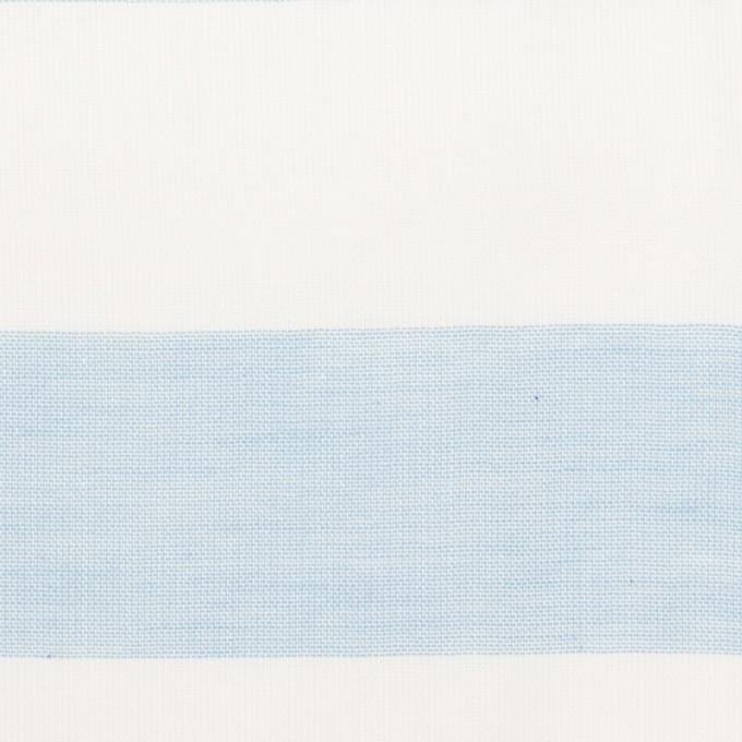 コットン×ボーダー(サックス)×Wガーゼ_全3色 イメージ1