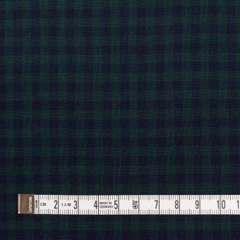 コットン×チェック(モスグリーン&ネイビー)×Wガーゼ サムネイル4