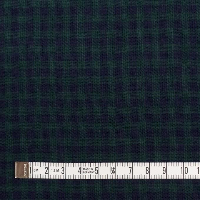 コットン×チェック(モスグリーン&ネイビー)×Wガーゼ イメージ4