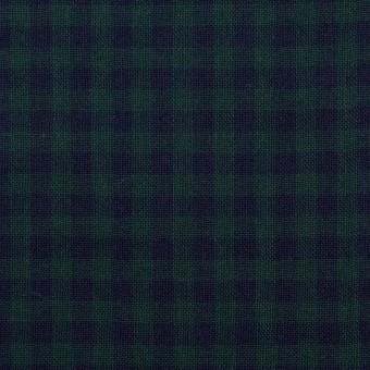 コットン×チェック(モスグリーン&ネイビー)×Wガーゼ サムネイル1