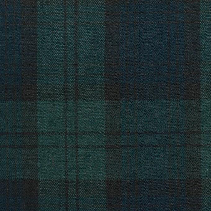 コットン×チェック(ブラックウォッチ)×サージ イメージ1