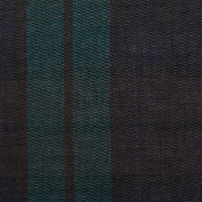 コットン×チェック(ブラックウォッチ)×ボイル イメージ1