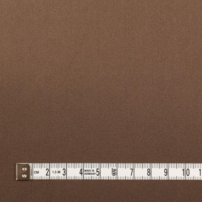 ポリエステル&ポリウレタン×無地(モカブラン)×サテンストレッチ_イタリア製 イメージ4