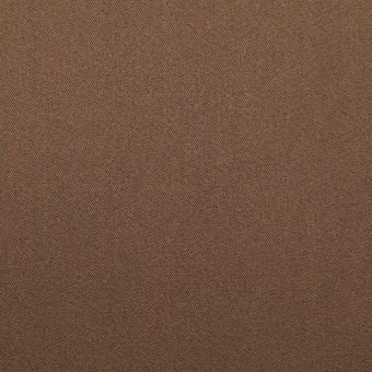 ポリエステル&ポリウレタン×無地(モカブラン)×サテンストレッチ_イタリア製