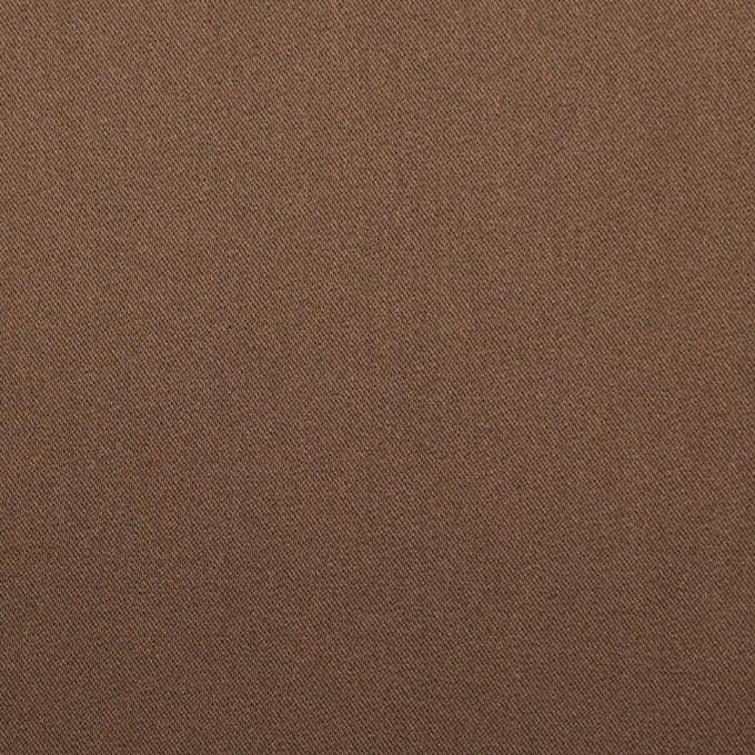 ポリエステル&ポリウレタン×無地(モカブラン)×サテンストレッチ_イタリア製 イメージ1