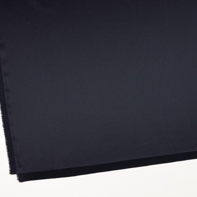 トリアセテート×無地(ネイビー)×サテンストレッチ イメージ2