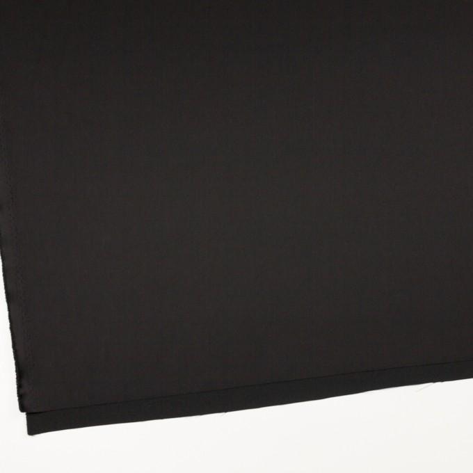 トリアセテート&ポリエステル×無地(ブラック)×サテン イメージ2