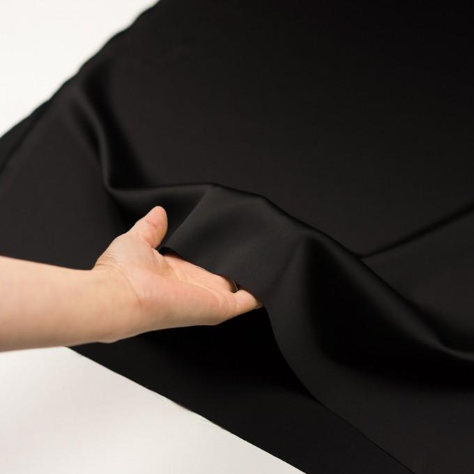 トリアセテート&ポリエステル×無地(ブラック)×サテン イメージ5
