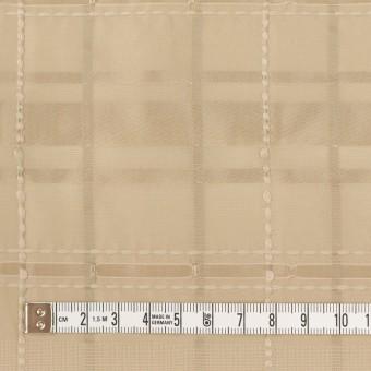 ポリエステル&コットン×チェック(カーキベージュ)×ジャガード サムネイル4
