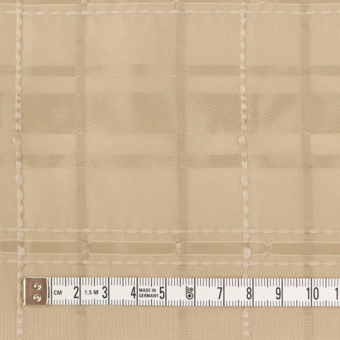 ポリエステル&コットン×チェック(カーキベージュ)×ジャガード イメージ4