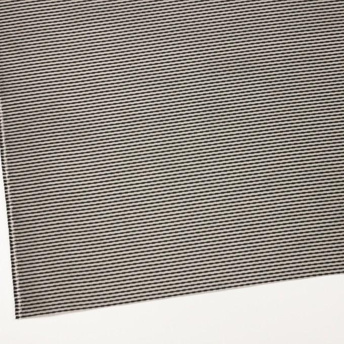 シルク&コットン×ボーダー(オキシダイズド・シルバー&ブラック)×ジャガード イメージ2