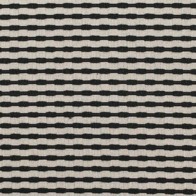 シルク&コットン×ボーダー(オキシダイズド・シルバー&ブラック)×ジャガード イメージ1