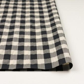 コットン&ナイロン×チェック(キナリ&ブラック)×高密ブロードワッシャー サムネイル3