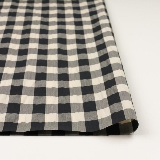 コットン&ナイロン×チェック(キナリ&ブラック)×高密ブロードワッシャー イメージ3