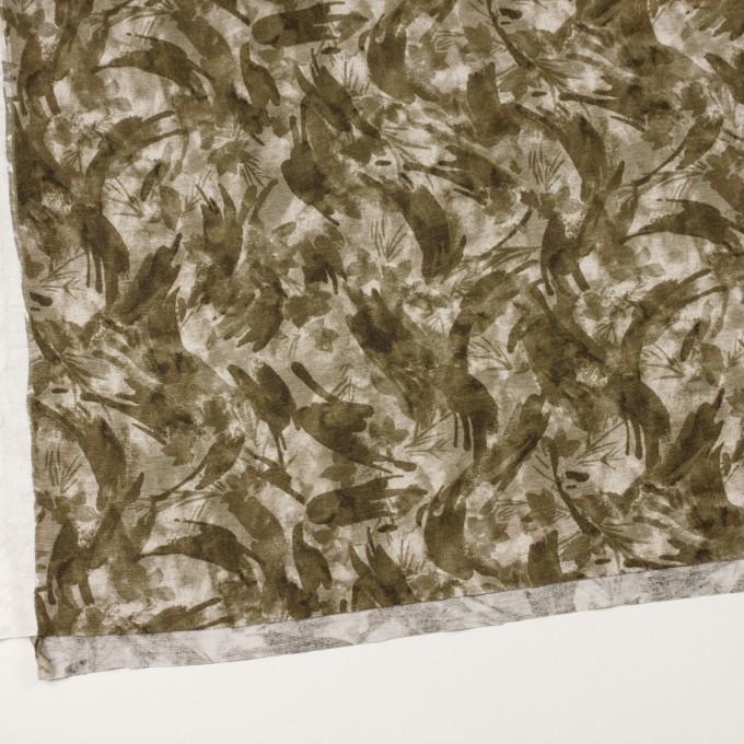 レーヨン&リネン×ボタニカル(カーキグリーン)×天竺ニット_全2色 イメージ2