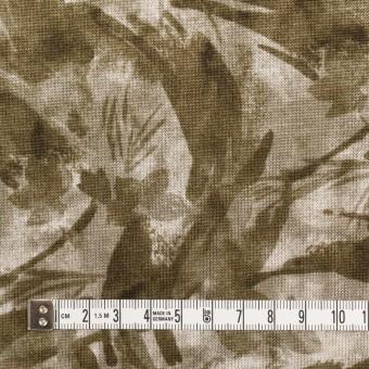 レーヨン&リネン×ボタニカル(カーキグリーン)×天竺ニット_全2色 サムネイル4