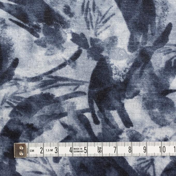 レーヨン&リネン×ボタニカル(ネイビー)×天竺ニット_全2色 イメージ4