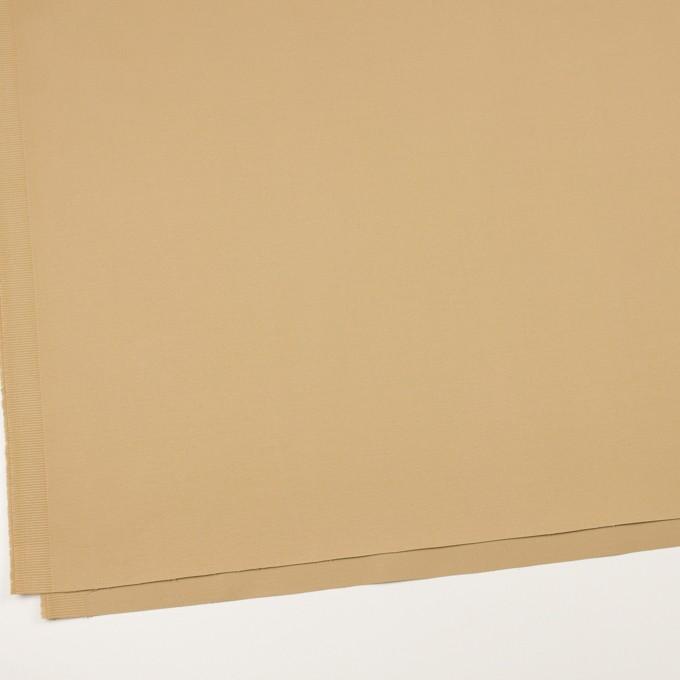 コットン&ポリウレタン×無地(ベージュ)×かわり織ストレッチ イメージ2