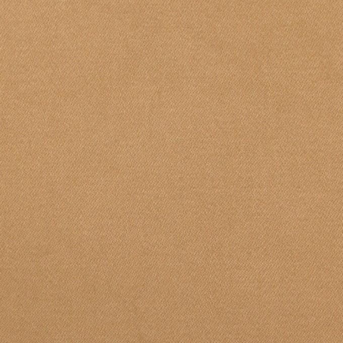 コットン&ポリウレタン×無地(オークル)×サテンストレッチ・ワッシャー イメージ1