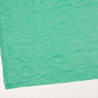 テンセル&コットン混×無地(エメラルドグリーン)×ボイルシャーリング_全4色 サムネイル2
