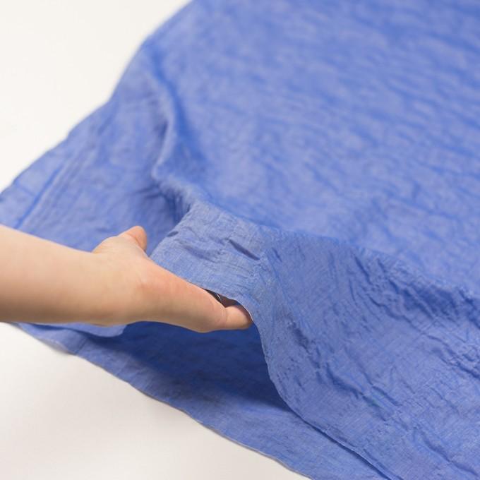 テンセル&コットン混×無地(ブルー)×ボイルシャーリング_全4色 イメージ5