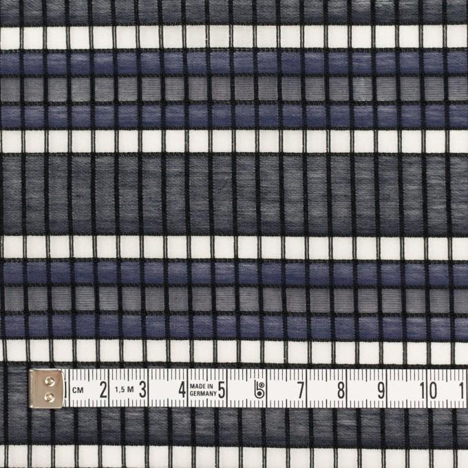 ナイロン&コットン×ボーダー(ネイビー&ダークネイビー)×オーガンジー・ジャガード_全2色 イメージ4