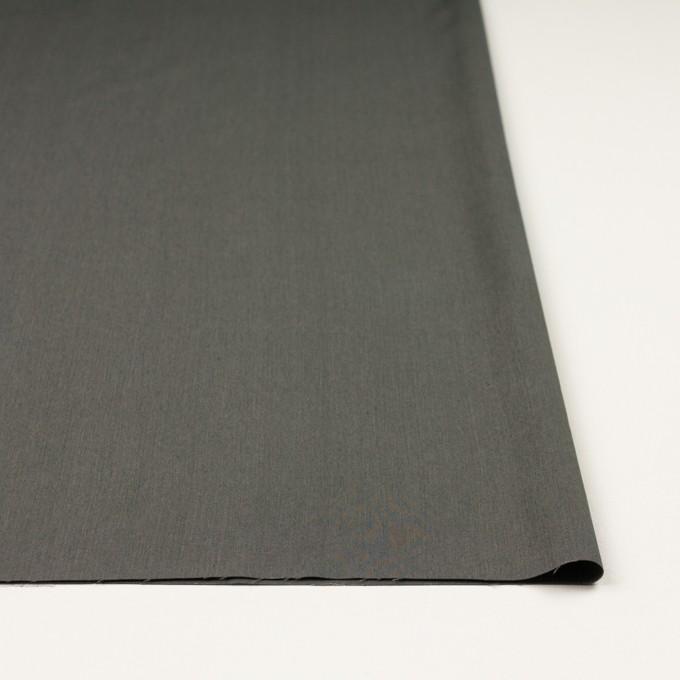 コットン&ビスコース混×無地(チャコールグレー)×サージストレッチ_全4色_イタリア製 イメージ3