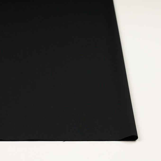 コットン&ビスコース混×無地(ブラック)×サージストレッチ_全4色_イタリア製 イメージ3