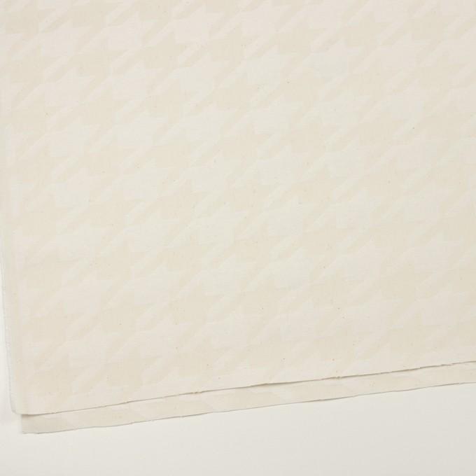 コットン×千鳥格子(キナリ)×ジャガード イメージ2