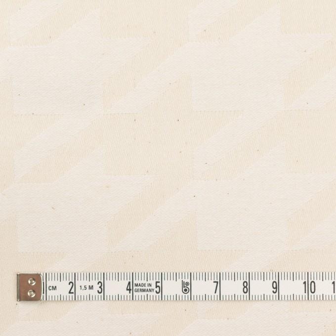 コットン×千鳥格子(キナリ)×ジャガード イメージ4
