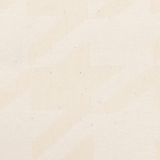 コットン×千鳥格子(キナリ)×ジャガード イメージ1