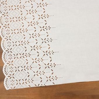 コットン×ボーダー(オフホワイト)×ローン刺繍No2_全4色 サムネイル2