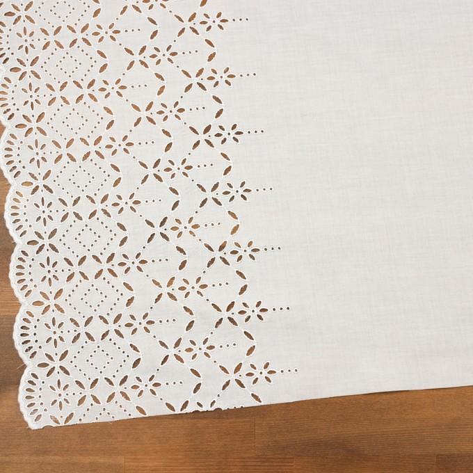 コットン×ボーダー(オフホワイト)×ローン刺繍No2_全4色 イメージ2