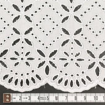 コットン×ボーダー(オフホワイト)×ローン刺繍No2_全4色 サムネイル4