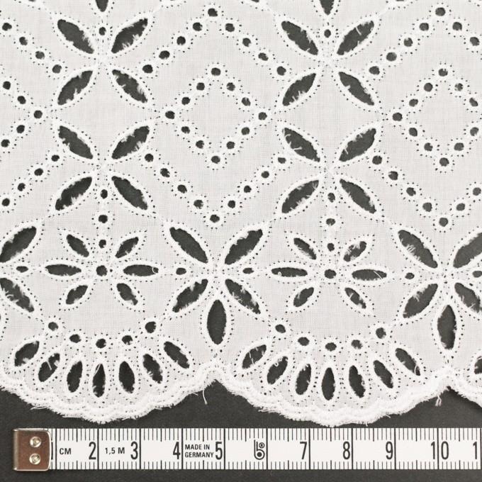 コットン×ボーダー(オフホワイト)×ローン刺繍No2_全4色 イメージ4