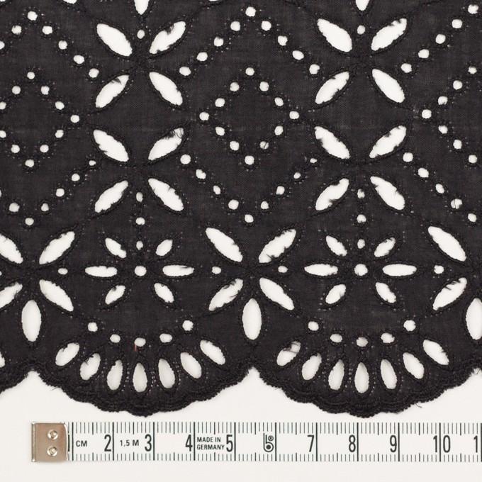コットン×ボーダー(ダークプラムグレー)×ローン刺繍No2_全4色 イメージ4