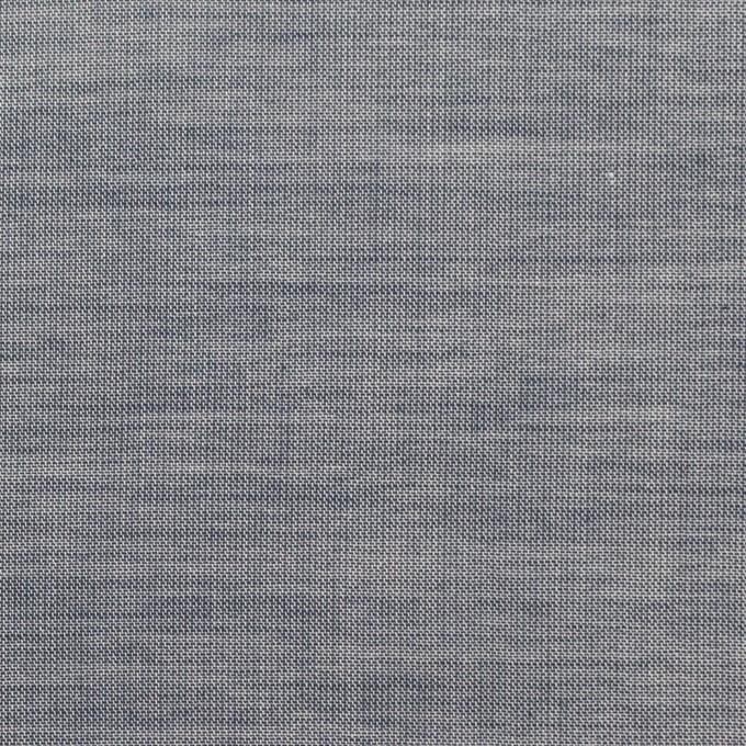 コットン×無地(アッシュネイビー)×シャンブレー_全3色_イタリア製 イメージ1