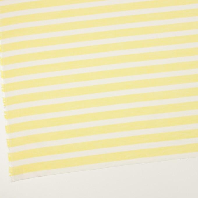 コットン&テンセル×ボーダー(レモン)×ボイル_全2色 イメージ2