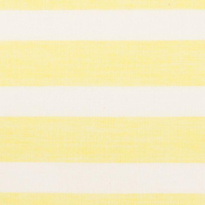 コットン&テンセル×ボーダー(レモン)×ボイル_全2色 イメージ1