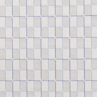 コットン×チェック(パールグレー)×ジャガード サムネイル1