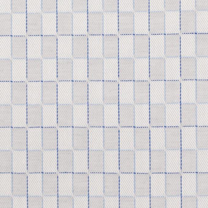 コットン×チェック(パールグレー)×ジャガード イメージ1
