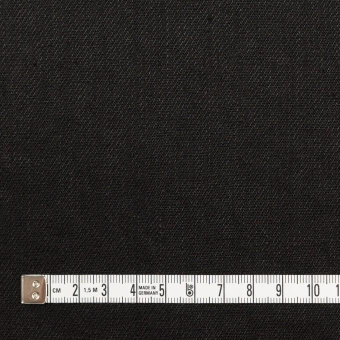 リネン×無地(ブラック)×サージ_全6色 イメージ4