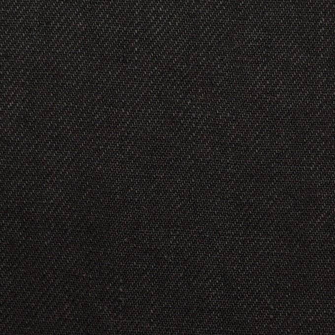リネン×無地(ブラック)×サージ_全6色 イメージ1