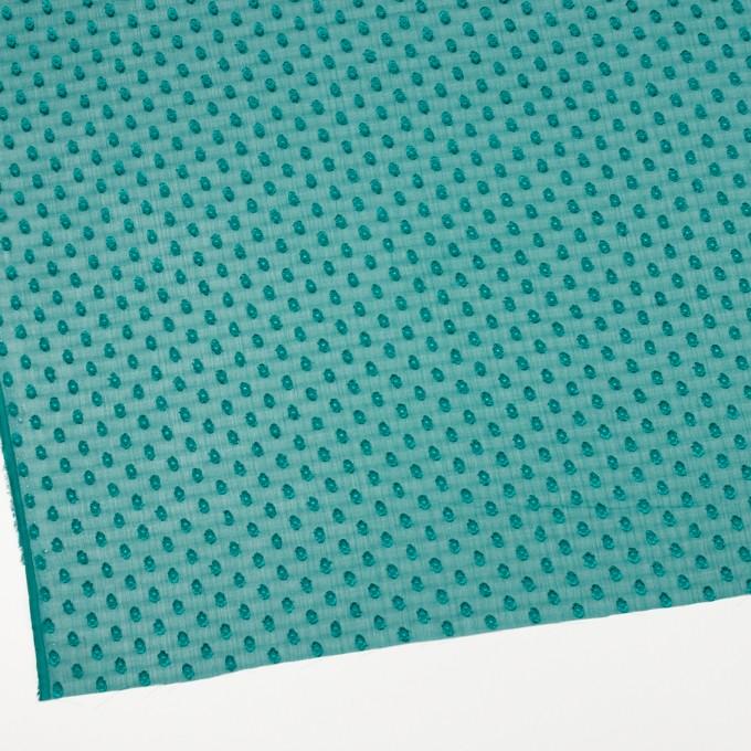 ポリエステル×ドット(クロムグリーン)×シフォンジョーゼット・カットジャガード_全3色 イメージ2