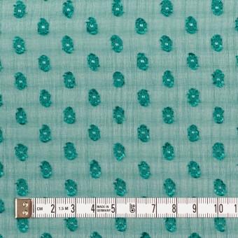 ポリエステル×ドット(クロムグリーン)×シフォンジョーゼット・カットジャガード_全3色 サムネイル4