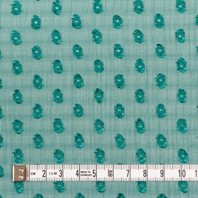 ポリエステル×ドット(クロムグリーン)×シフォンジョーゼット・カットジャガード_全3色 イメージ4